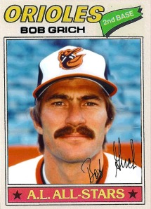 1977 Topps Bob Grich (Orioles Photoshop)